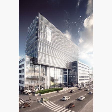 Nieuwbouw kantoren te huur in Brusselse Leopoldswijk
