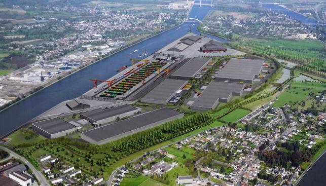 Distributiecentrum voor logistieke opslag - Haven van Luik