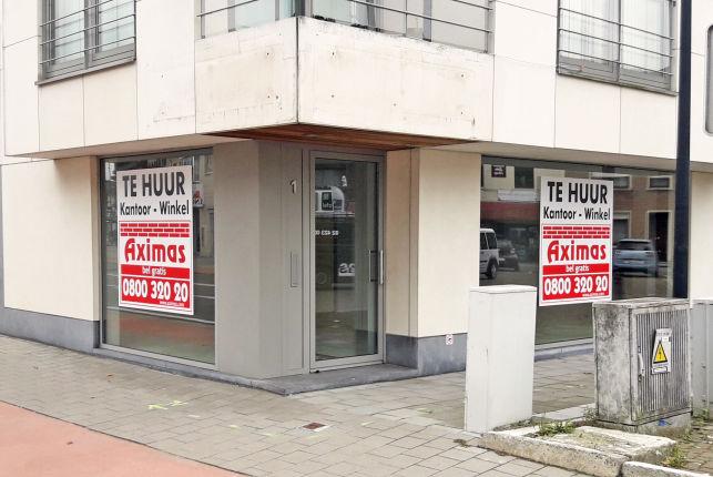 Commerciële gelijkvloers voor kantoor of winkel te huur in Sterrebeek