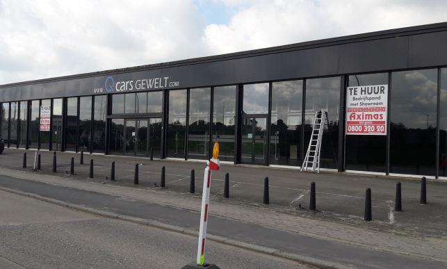 Showroom met magazijn & buitenopslag in Leuven Haasrode