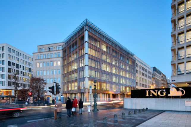 Offices to let in European business district