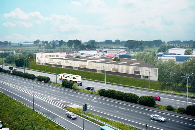 E17 Melsele: production warehouse for sale Port of Antwerp