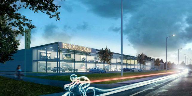 Industriegrond te koop voor showroom langs Woluwelaan
