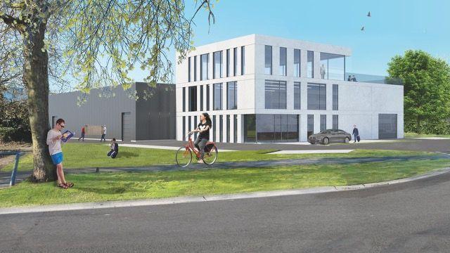 Bedrijfspand met kantoren & opslag te koop in Mechelen