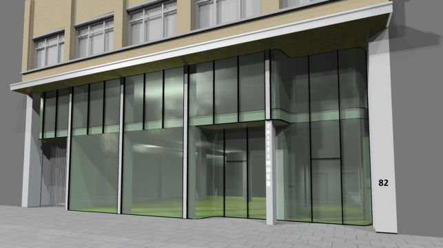 Brussels Sainctelette - retail outlet & showroom with offices to rent