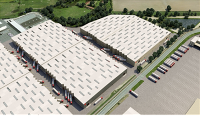 Distribution center to let in the Port of Ghent