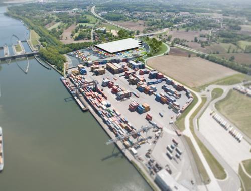 Logistieke bedrijfruimte te huur Nikelaan Antwerpen