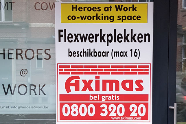 Flexspace for rent near the Leuven railway station