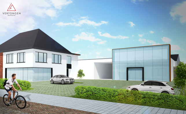 Commerciële gelijkvloers te huur in Deinze bij Gent