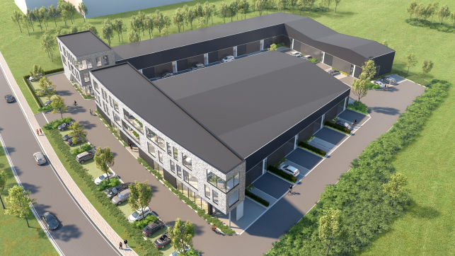 Bâtiment industriel avec entrepôts & bureaux à vendre à Haasrode Louvain