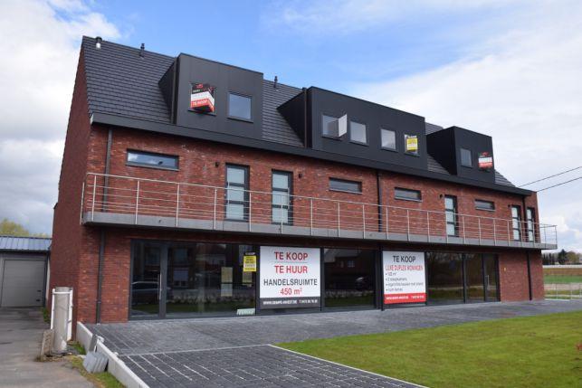 Twee handelsruimtes te koop met opslag aan het Gouden Kruispunt bij Leuven