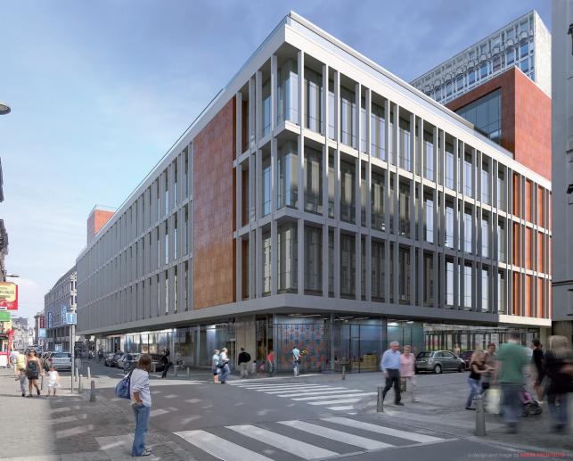 Nieuwbouw kantoren te huur in Luik