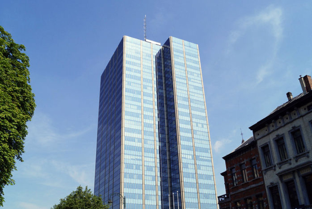 Brussels office space for rent in the Blue Tower